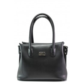 Дамска чанта - висококачествена еко-кожа - черни - EO-13434