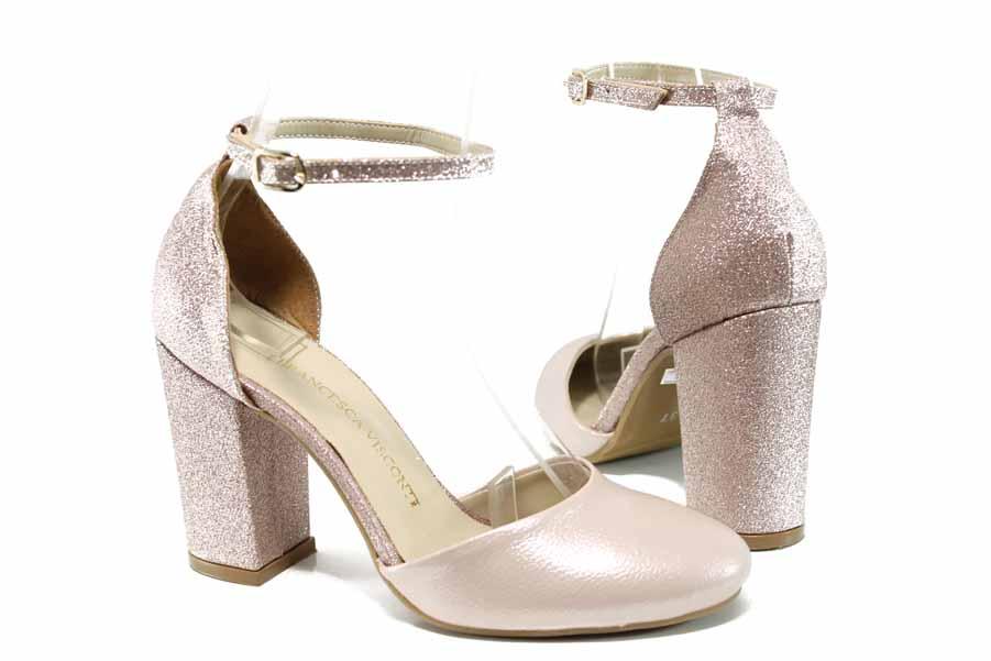 Дамски сандали - висококачествена еко-кожа - розови - EO-12398