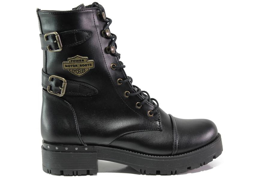 177561e878f Дамски боти - висококачествена еко-кожа - черни - EO-13228