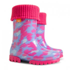 Детски ботуши - висококачествен pvc материал - розови - EO-12917