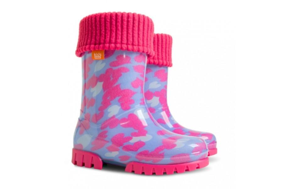 Детски ботуши - висококачествен pvc материал - розови - EO-12918