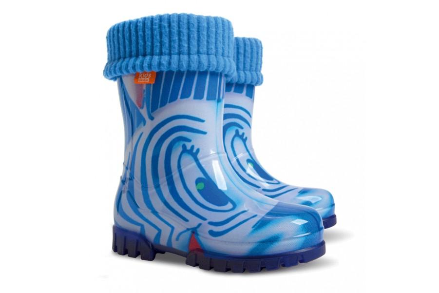 Детски ботуши - висококачествен pvc материал - сини - EO-12912