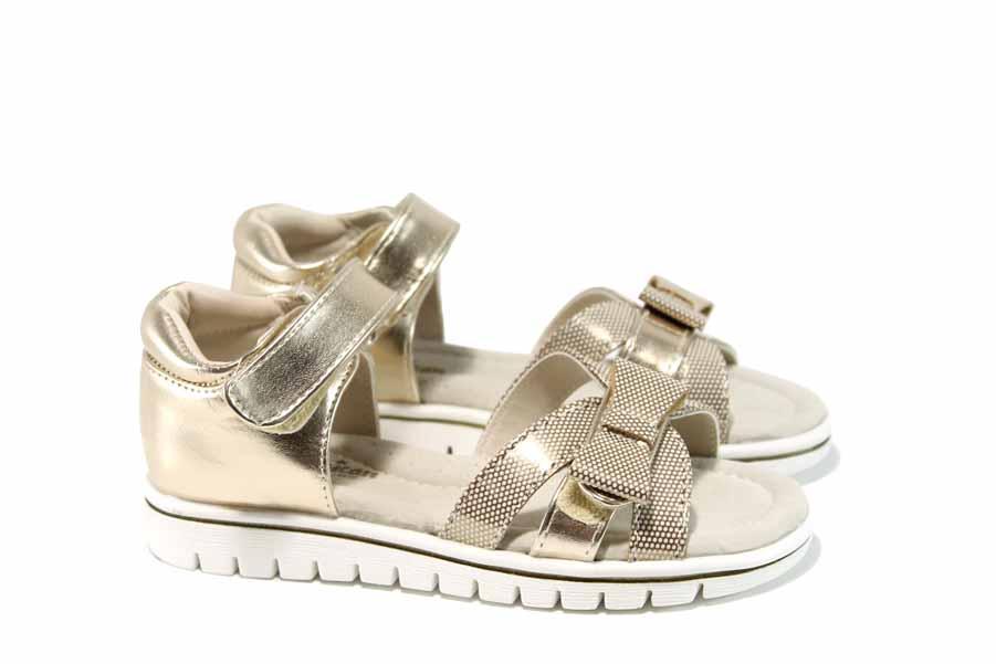 Детски сандали - висококачествена еко-кожа - жълти - EO-12668