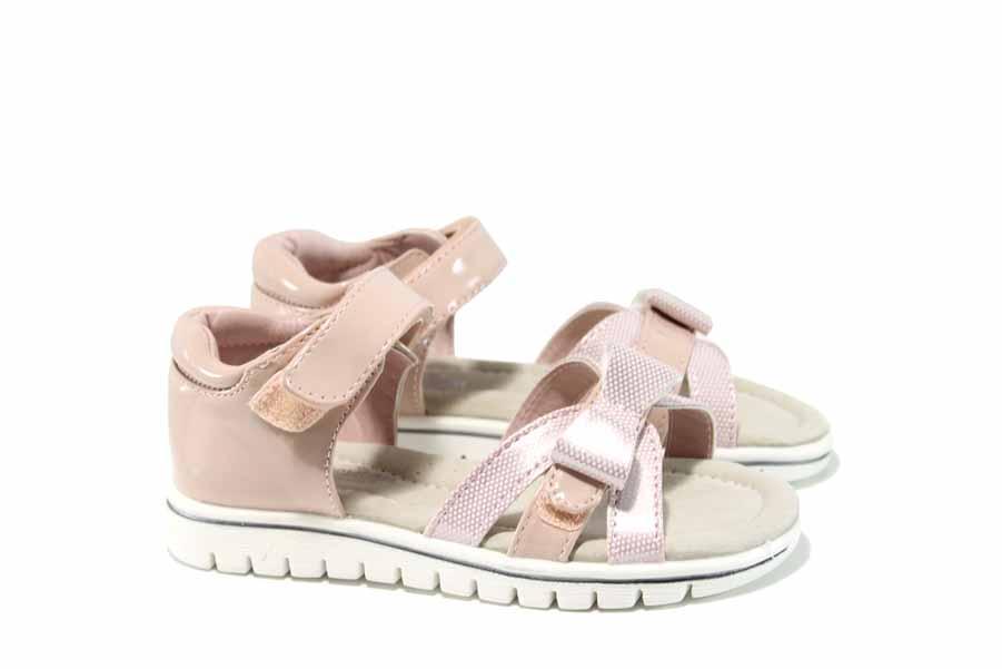 Детски сандали - висококачествена еко-кожа - розови - EO-12670
