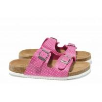 Детски чехли - висококачествена еко-кожа - розови - EO-12679