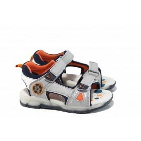 Детски сандали - висококачествена еко-кожа - сиви - EO-12667