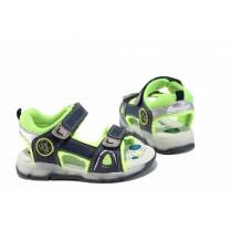 Детски сандали - висококачествена еко-кожа - сини - EO-12666