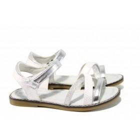 Детски сандали - висококачествена еко-кожа - бели - EO-12672