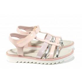 Детски сандали - висококачествена еко-кожа - розови - EO-12674