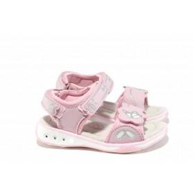 Детски сандали - висококачествена еко-кожа - розови - EO-12677