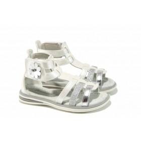 Детски сандали - висококачествена еко-кожа - сребро - EO-12771