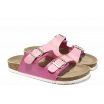 Детски чехли - висококачествена еко-кожа - розови - EO-12769