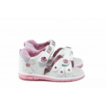 Детски сандали - висококачествена еко-кожа - бели - EO-12754