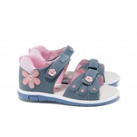 Детски сандали - висококачествена еко-кожа - сини - EO-12756