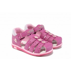 Детски сандали - висококачествена еко-кожа - розови - EO-12760
