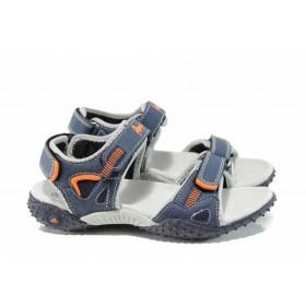 Детски сандали - висококачествена еко-кожа - сини - EO-12764