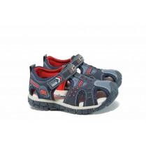 Детски сандали - висококачествена еко-кожа - сини - EO-12768