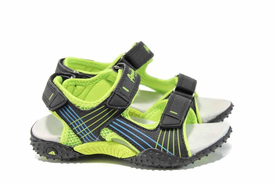 Детски сандали - висококачествена еко-кожа - черни - EO-12761