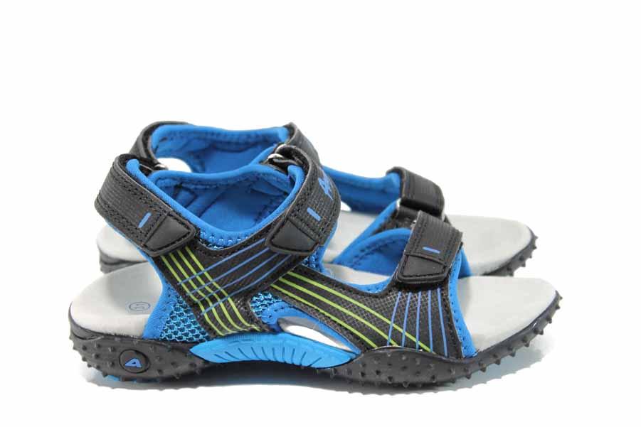 Детски сандали - висококачествена еко-кожа - черни - EO-12762