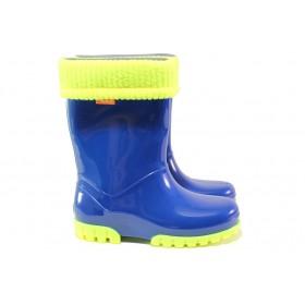 Детски ботуши - висококачествен pvc материал - сини - EO-13084