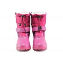 Детски ботуши - висококачествен pvc материал и текстил - розови - EO-13265
