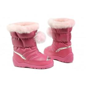 Детски боти - висококачествена еко-кожа - розови - EO-13452