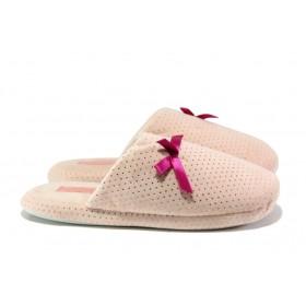 Домашни чехли - висококачествен текстилен материал - розови - EO-13149