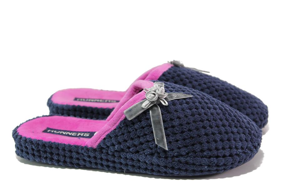 Домашни чехли - висококачествен текстилен материал - сини - EO-13156