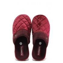 Домашни чехли - висококачествен текстилен материал - бордо - EO-13158