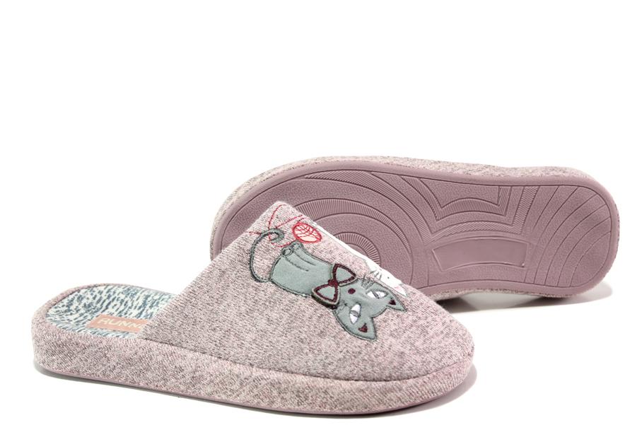 Домашни чехли - висококачествен текстилен материал - розови - EO-13294