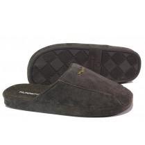 Домашни чехли - висококачествен текстилен материал - кафяви - EO-13300
