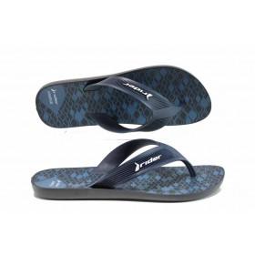 Мъжки чехли - висококачествен pvc материал - черни - EO-12592