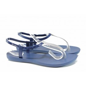 Дамски сандали - висококачествен pvc материал - сини - EO-12573