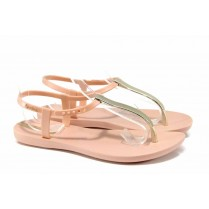 Дамски сандали - висококачествен pvc материал - розови - EO-12574