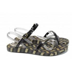 Дамски сандали - висококачествен pvc материал - черни - EO-12583