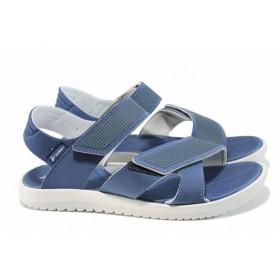 Мъжки сандали - висококачествен pvc материал - сини - EO-12606