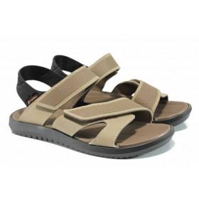 Мъжки сандали - висококачествен pvc материал - черни - EO-12605