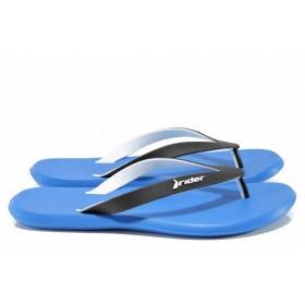Мъжки чехли - висококачествен pvc материал - сини - EO-12594