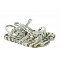 Дамски сандали - висококачествен pvc материал - бежови - EO-12582