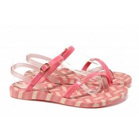 Дамски сандали - висококачествен pvc материал - розови - EO-12584