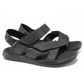 Мъжки сандали - висококачествен pvc материал - черни - EO-12604