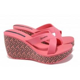 Дамски чехли - висококачествен pvc материал - розови - EO-12617