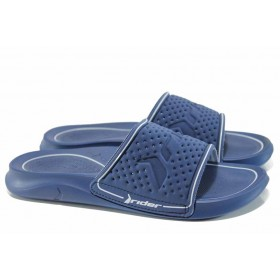 Мъжки чехли - висококачествен pvc материал - сини - EO-12603