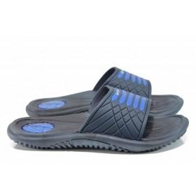 Мъжки чехли - висококачествен pvc материал - сини - EO-12600