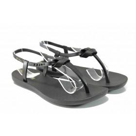 Дамски сандали - висококачествен pvc материал - черни - EO-12580