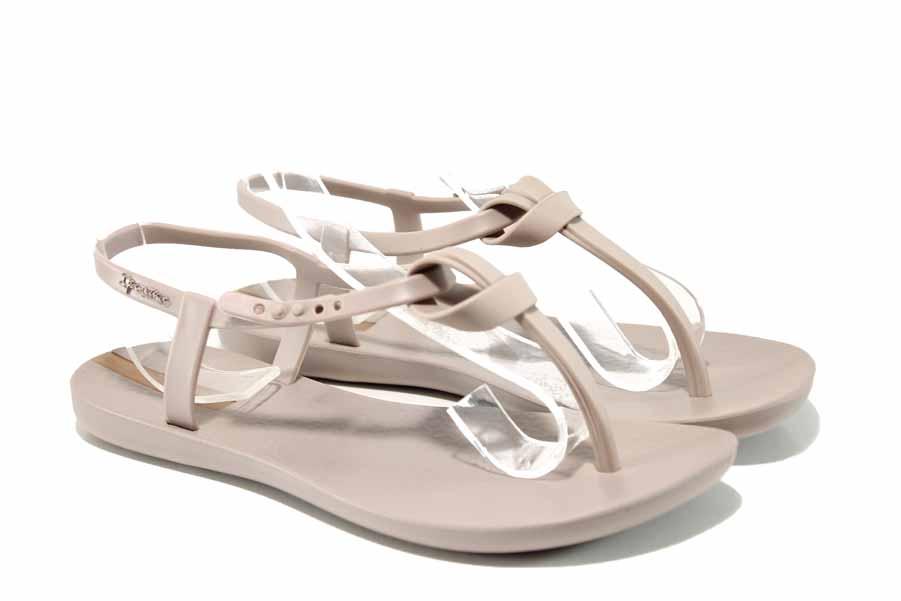Дамски сандали - висококачествен pvc материал - бежови - EO-12579