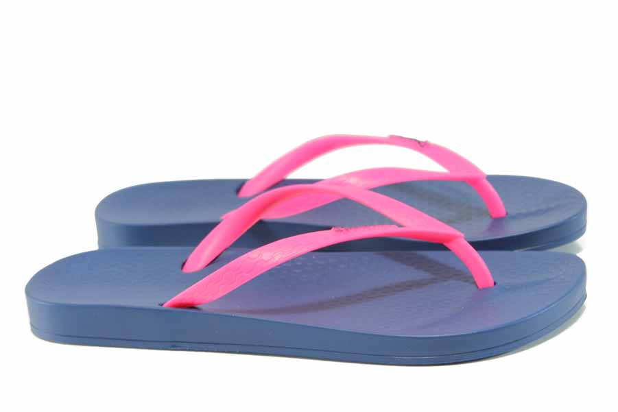 Дамски чехли - висококачествен pvc материал - сини - EO-12609
