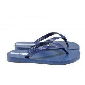 Дамски чехли - висококачествен pvc материал - сини - EO-12607