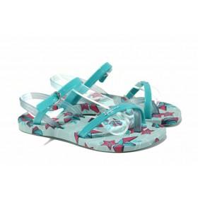 Детски сандали - висококачествен pvc материал - зелени - EO-12621