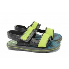 Детски сандали - висококачествен pvc материал - зелени - EO-12623